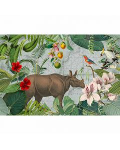 DD119725 ARTist Fototapete, Jungle Rhino