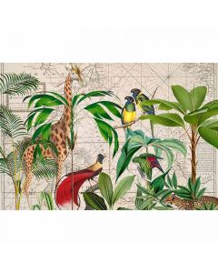 DD119741 ARTist Fototapete, Palm Tree Map