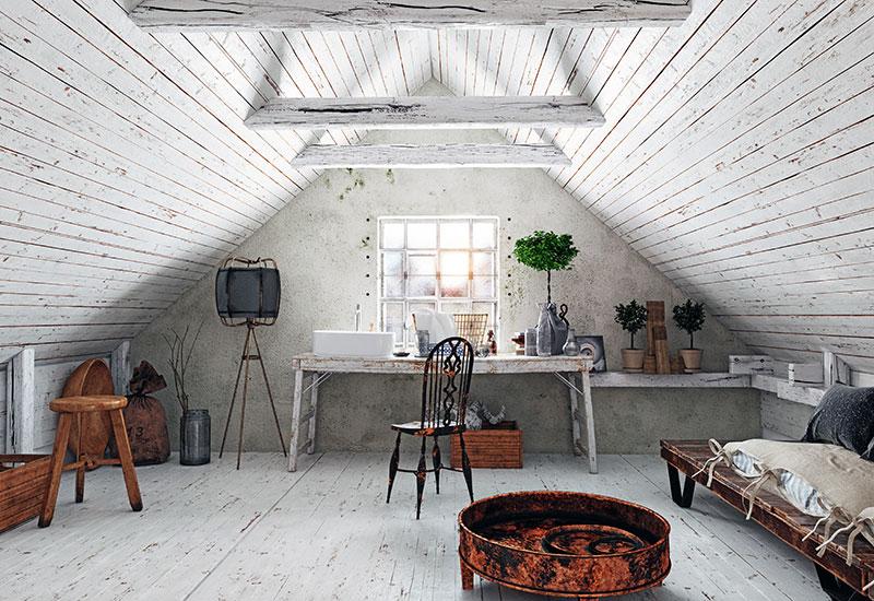 Dachschräge & Decke richtig tapezieren - Eine Anleitung