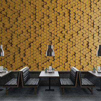 3D Tapete Honigwaben