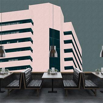 3D Tapete Hochhaus