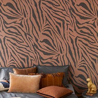 Animalprint Tapete Zebrastreifen