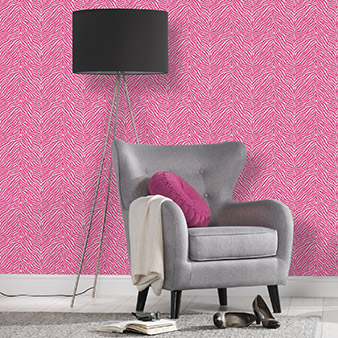 Pinke Animalprint Tapete
