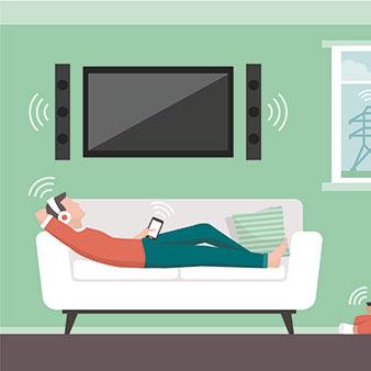 Elektromagnetische Strahlung im Raum