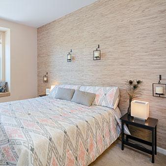 Grastapete Schlafzimmer