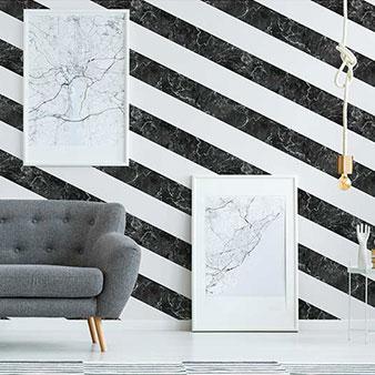 Marmor-Tapete schwarz weiß