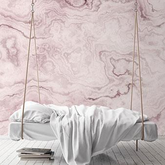 Marmor-Tapete rosa