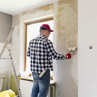 Tapezierfehler Wand einkleistern