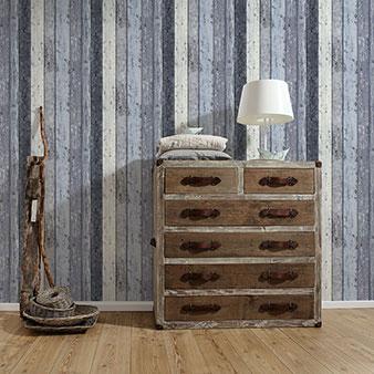 Flurtapete Holz Beispiel
