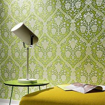 Ornament-Tapete grün