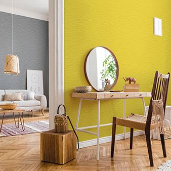 Wand Grau und Gelb kombinieren