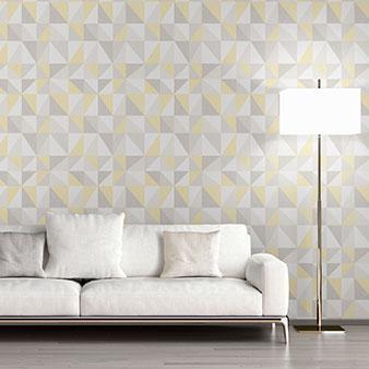 Tapete grau-gelb Kombination